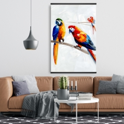 Magnetic 28 x 42 - Parrots on a branch