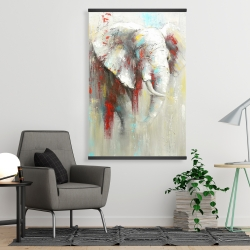 Magnetic 28 x 42 - Abstract elephant with paint splash