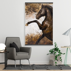 Magnetic 28 x 42 - Horse rushing into the soil