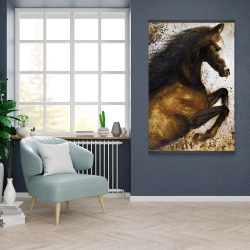 Magnetic 28 x 42 - Horse rushing into the dust