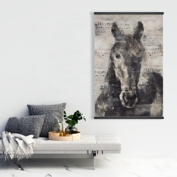 Magnetic 28 x 42 - Abstract horse with typography