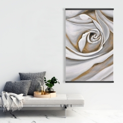 Magnetic 28 x 42 - White rose closeup
