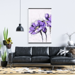 Magnetic 28 x 42 - Purple abstract flowers