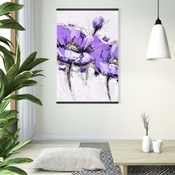 Magnetic 28 x 42 - Purple anemone flowers