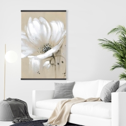 Magnetic 28 x 42 - White abstract wild flower
