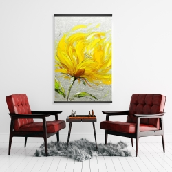 Magnetic 28 x 42 - Yellow fluffy flower