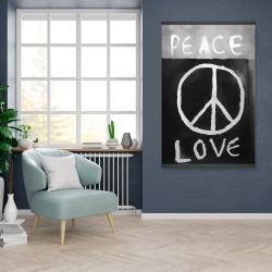 Magnetic 28 x 42 - Peace love monochrome