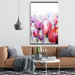 Magnetic 28 x 42 - Pink tulips field