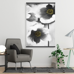 Magnetic 28 x 42 - Black and white flowers