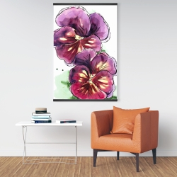 Magnetic 28 x 42 - Two blossoming orchid with wavy petals