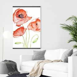 Magnetic 28 x 42 - Watercolor poppies