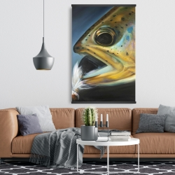 Magnetic 28 x 42 - Golden trout with fly fishing flie