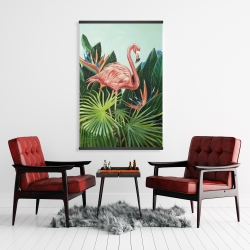 Magnetic 28 x 42 - Tropical flamingo