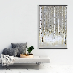 Magnetic 28 x 42 - Birch forest by winter