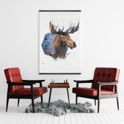 Magnetic 28 x 42 - Abstract blue moose