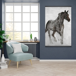 Magnetic 28 x 42 - Abstract brown horse
