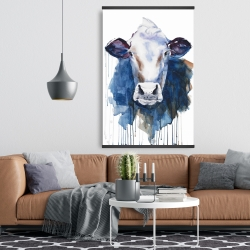 Magnetic 28 x 42 - Watercolor cow