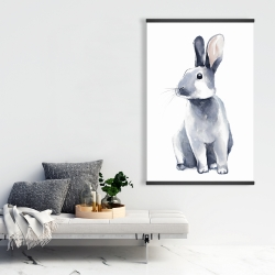 Magnetic 28 x 42 - Gray curious rabbit