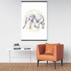 Magnetic 28 x 42 - Elephant on mandalas