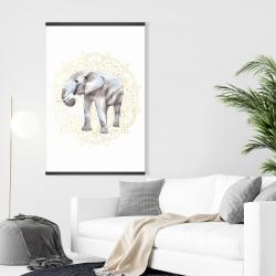 Magnetic 28 x 42 - Elephant on mandalas pattern