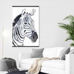 Magnetic 28 x 42 - Watercolor zebra