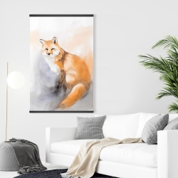 Magnetic 28 x 42 - Watercolor fox