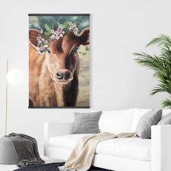 Magnetic 28 x 42 - Cute jersey cow