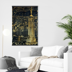Magnetic 28 x 42 - Gold city blue print