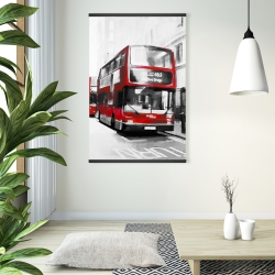 Magnetic 28 x 42 - Red bus londoner