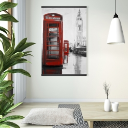 Magnetic 28 x 42 - Red phonebooth with the big ben