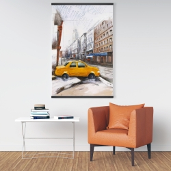 Magnetic 28 x 42 - Taxi in the street sketch