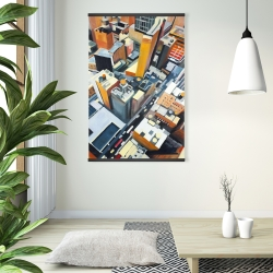 Magnetic 28 x 42 - High top view of buildings in new york