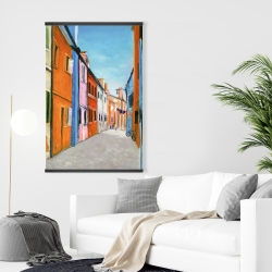 Magnetic 28 x 42 - Colorful houses in italy