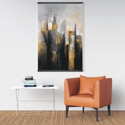 Magnetic 28 x 42 - Abstract gold skyscraper