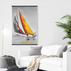 Magnetic 28 x 42 - Two colors sailing boat