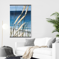 Magnetic 28 x 42 - Wild herbs in the wind on at the beach