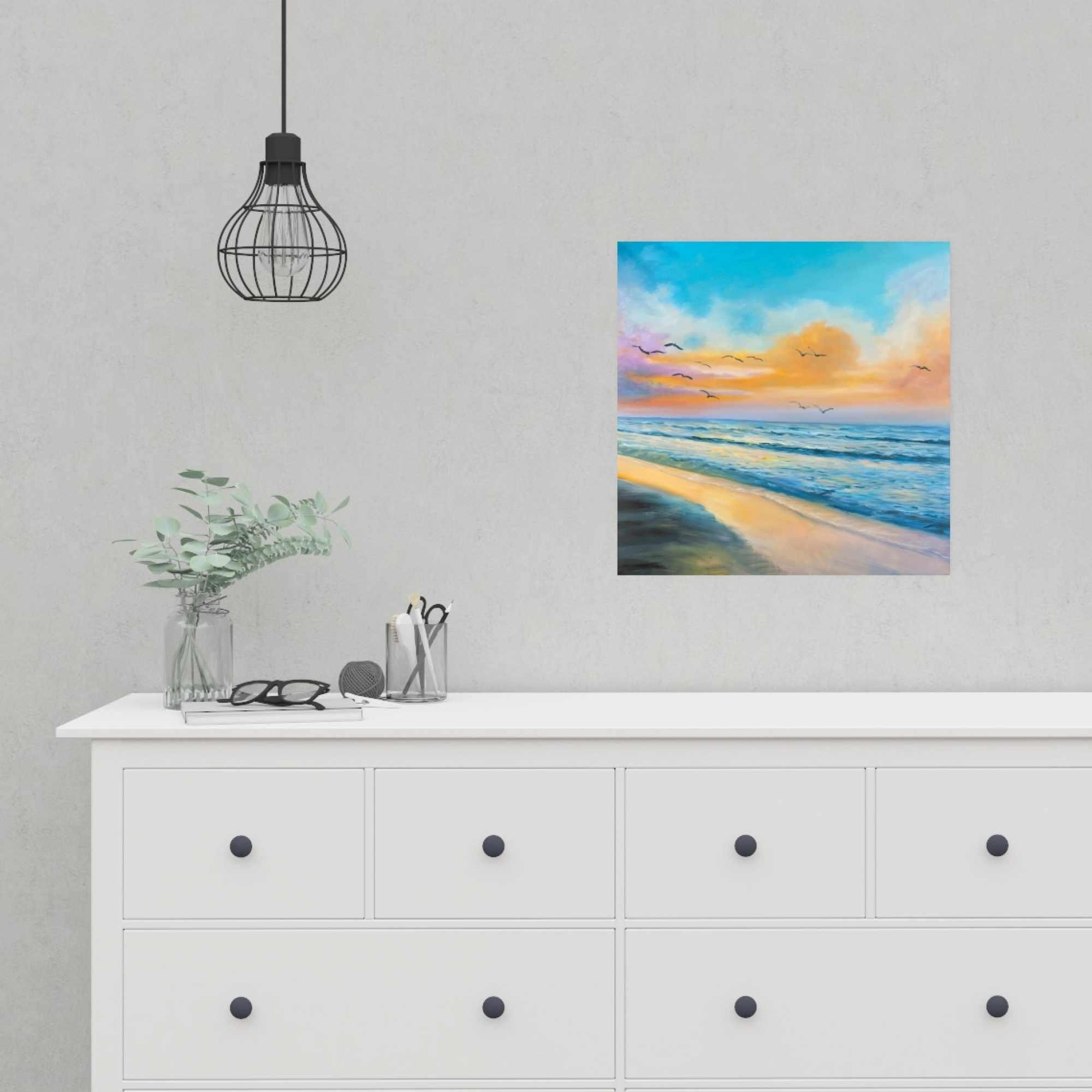 Affiche 16 x 16 - Coucher de soleil tropical à couper le souffle