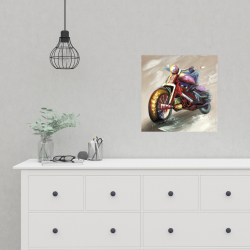 Poster 16 x 16 - Abstract motorcycle