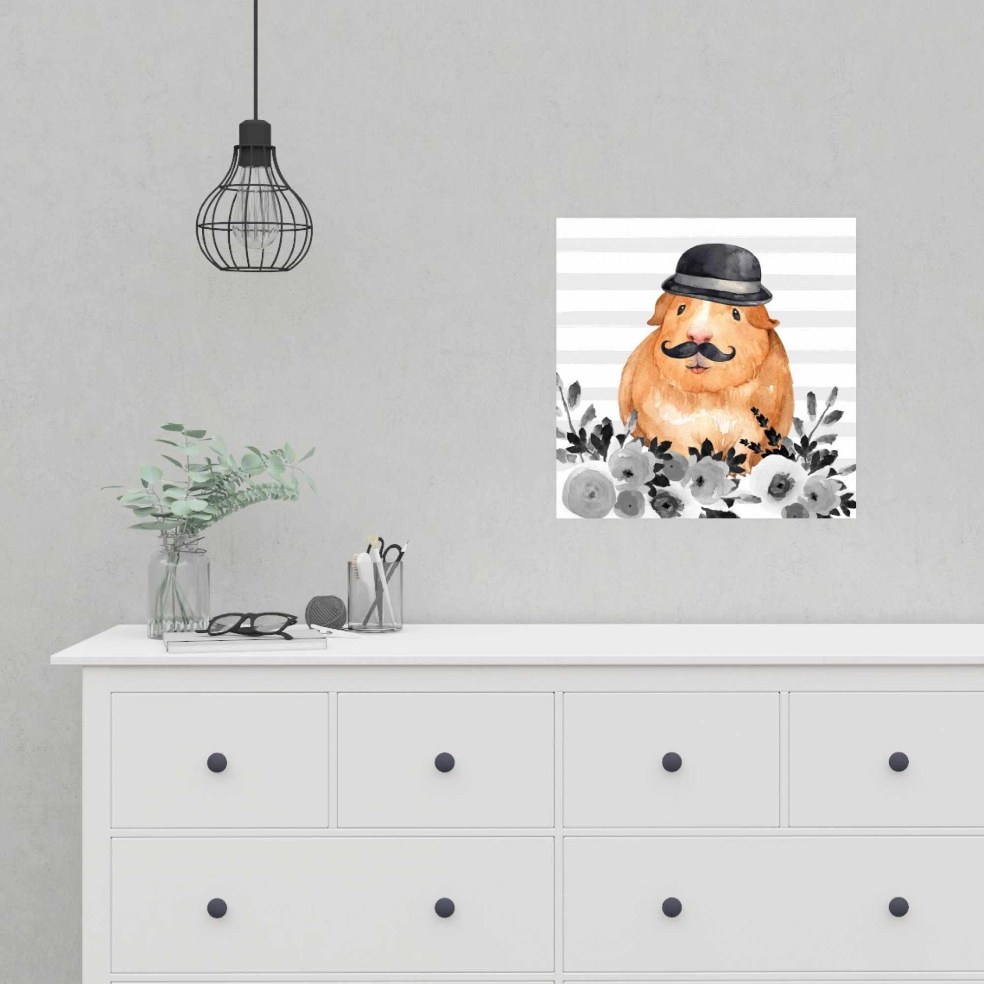 Affiche 16 x 16 - Cochon d'inde détective