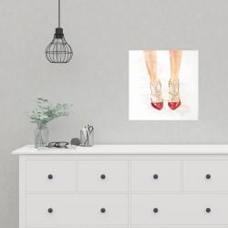 Red studded high heels | Print on demand | Begin Home Decor