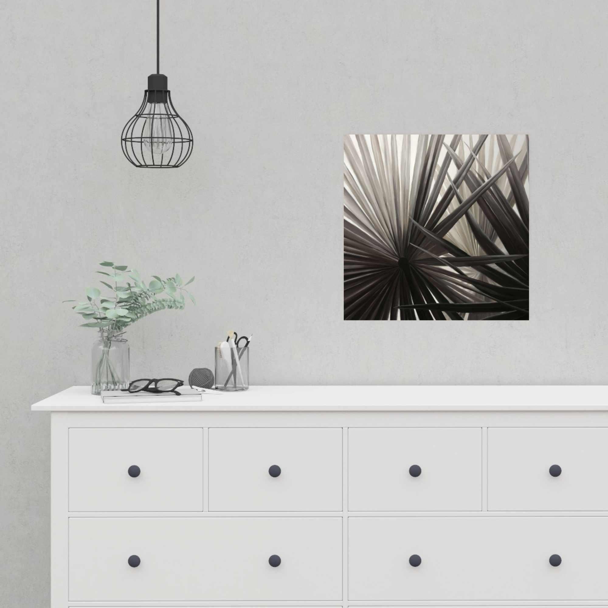 Poster 16 x 16 - Sepia tropical plants