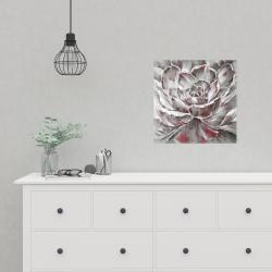 Affiche 16 x 16 - Fleur rouge et grise
