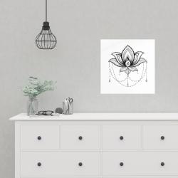 Affiche 16 x 16 - Ornement d'un lotus ethnique