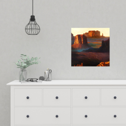 Poster 16 x 16 - Monument valley tribal park in arizona