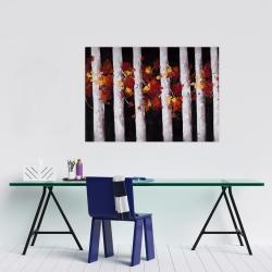 Affiche 24 x 36 - Arbres et feuilles d'automne
