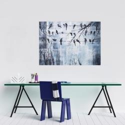 Affiche 24 x 36 - Oiseaux abstrait sur fil électrique