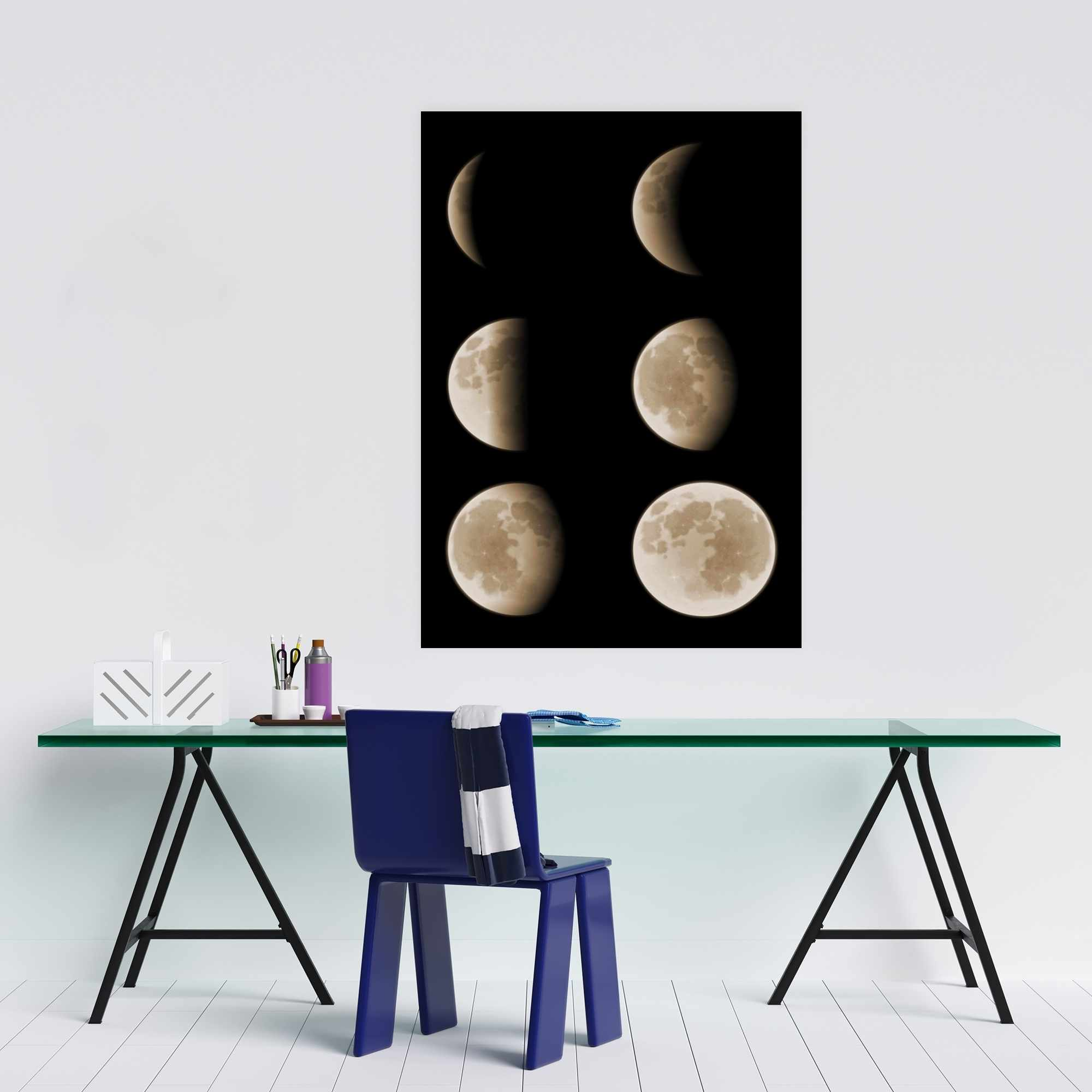 Poster 24 x 36 - Eclipse in six phases