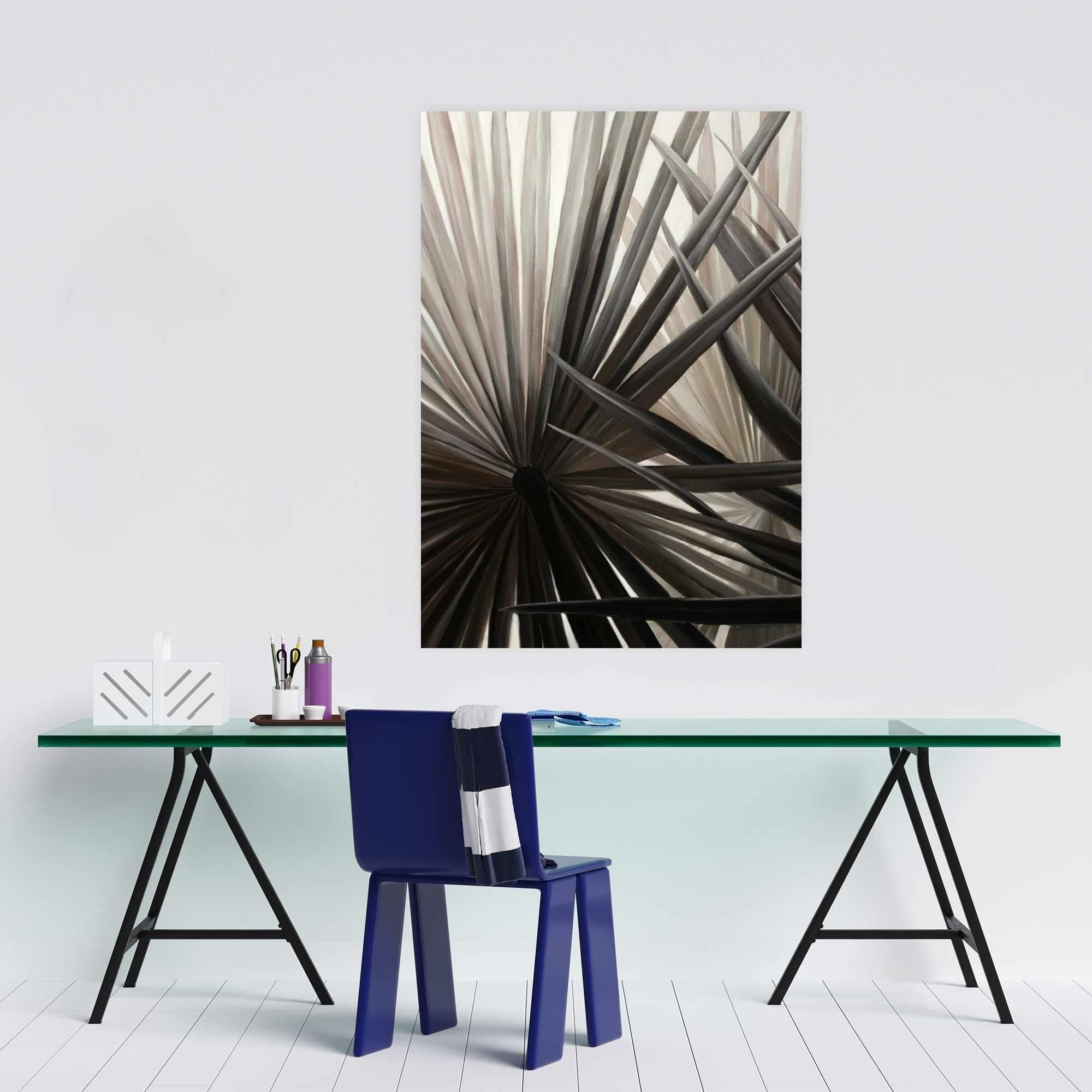 Poster 24 x 36 - Sepia tropical plants