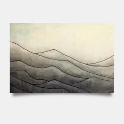 Affiche 24 x 36 - Montagnes désaturés