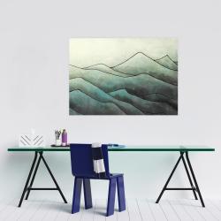 Affiche 24 x 36 - Montagnes en tons de gris